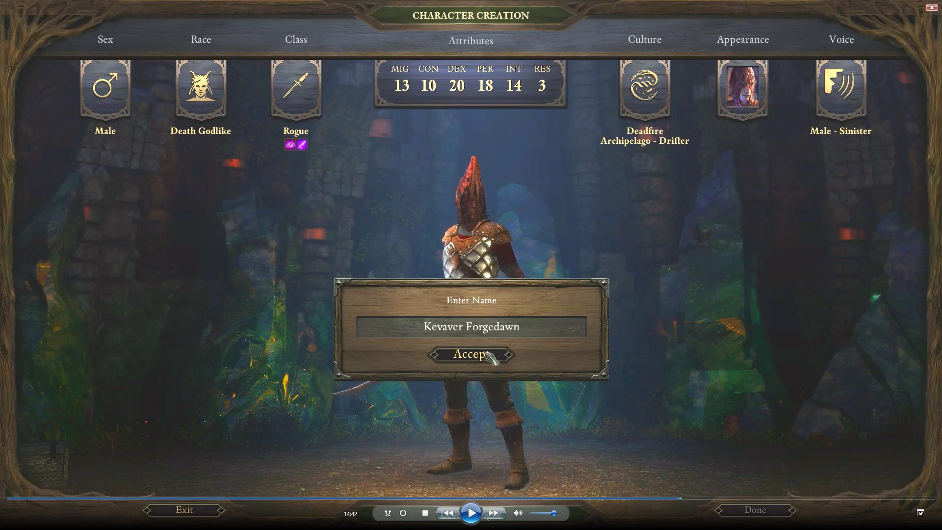 Pillars of Eternity, Path of the Damned, Creating our Main Character