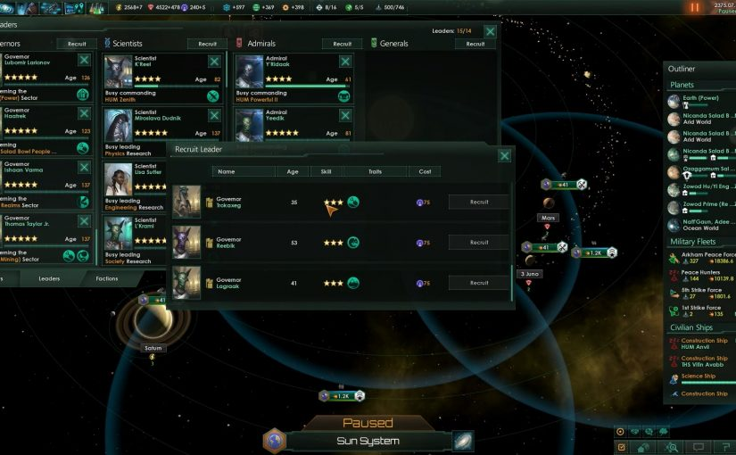 11 Top Tips For Great #Governor Use In #Stellaris