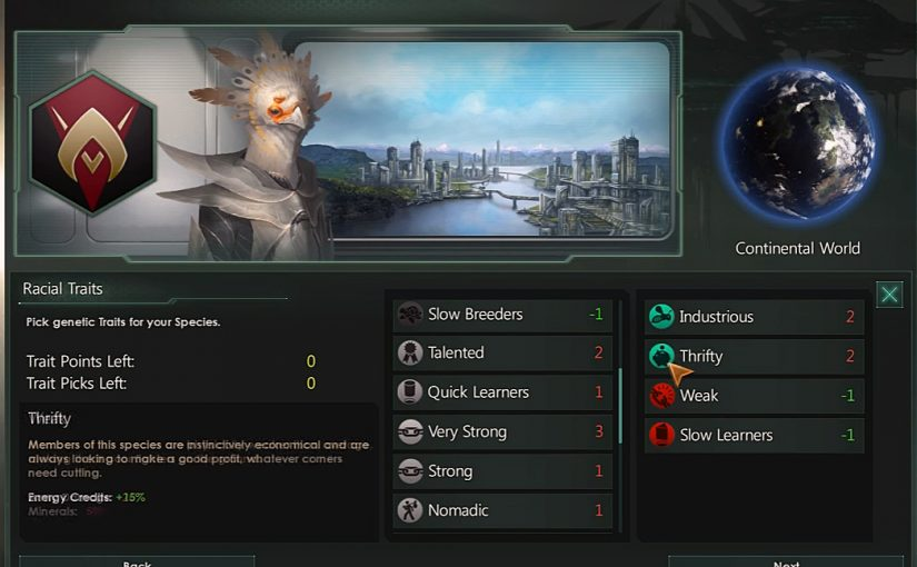 #Rating #Stellaris #Species #Traits 1 to 10 points